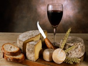 Vin rouge et fromage