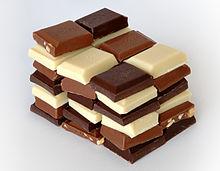 Chocolats blanc, noir et au lait