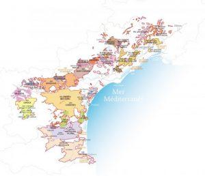 Carte vignoble Languedoc