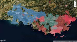 Carte du vignoble de Provence et ses appellations