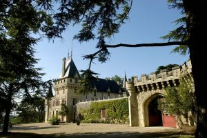 The building of Château de Pressac dates from the Middle Ages