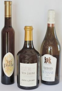 Bottles of wines from Jura