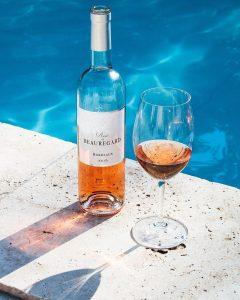 Rosé du Château Beauregard, Bordeaux, wine tour booking